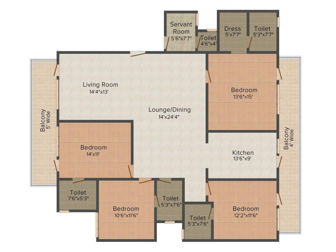 Floor Plan Image of 0 - 2160 Sq.ft 4 BHK Independent Floor for buy in The Home Solutions Floors - 7