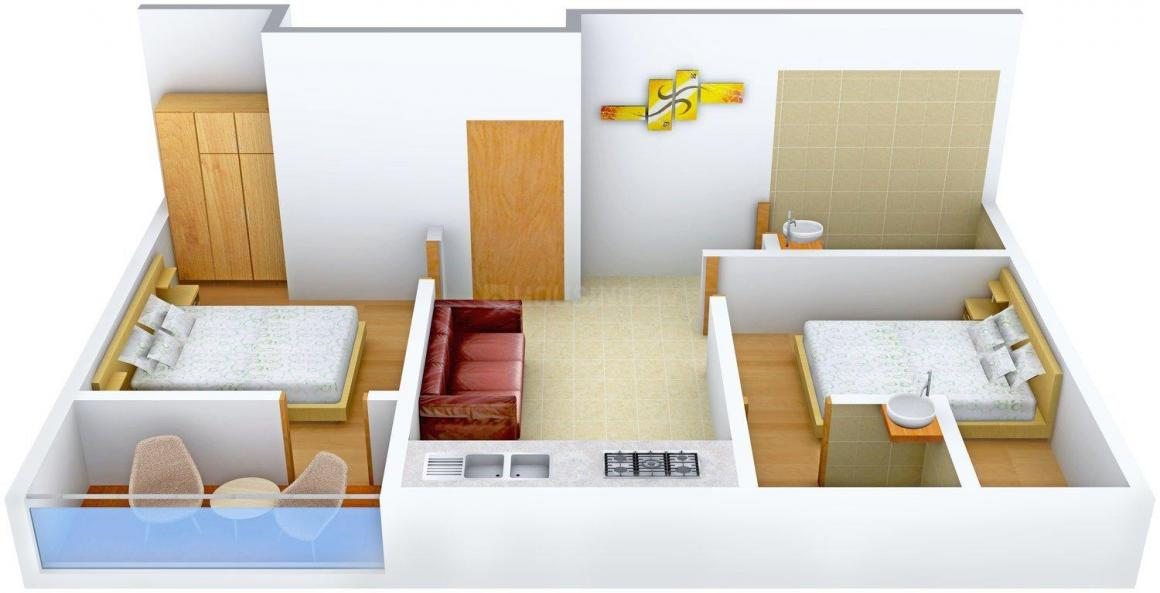 Nirman Dipalay Apartment Sukheralay Apartment Floor Plan: 2 BHK Unit with Built up area of 749 sq.ft 2