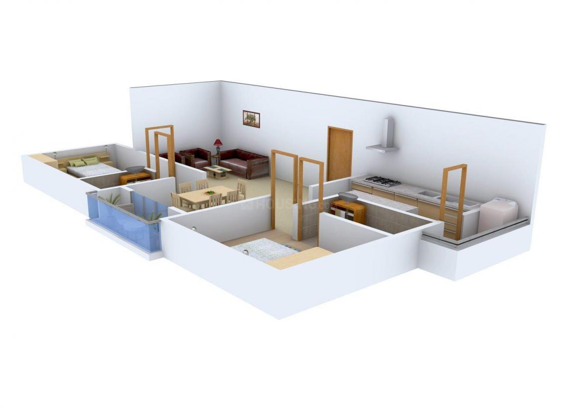 Floor Plan Image of 1149.0 - 1405.0 Sq.ft 2 BHK Apartment for buy in Suprama Colonial