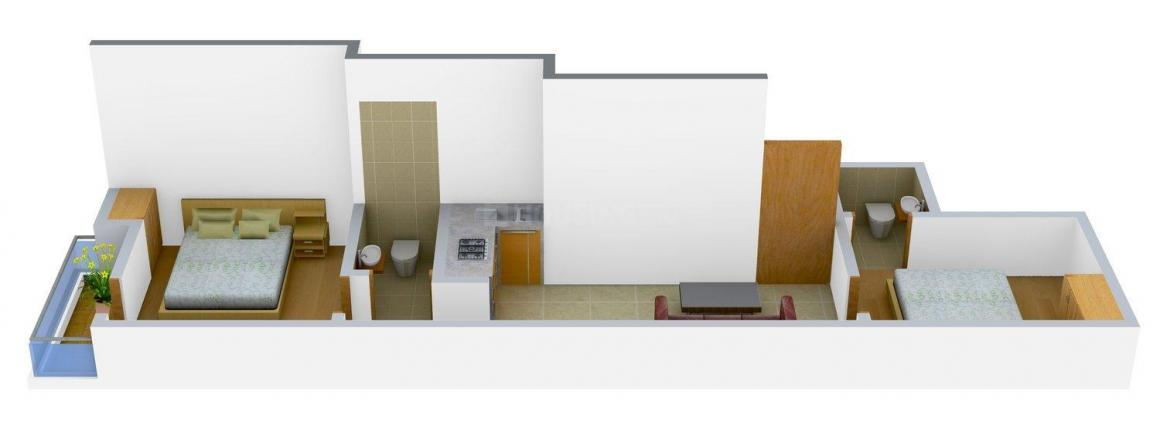 Floor Plan Image of 0 - 540 Sq.ft 2 BHK Independent Floor for buy in Abode Project