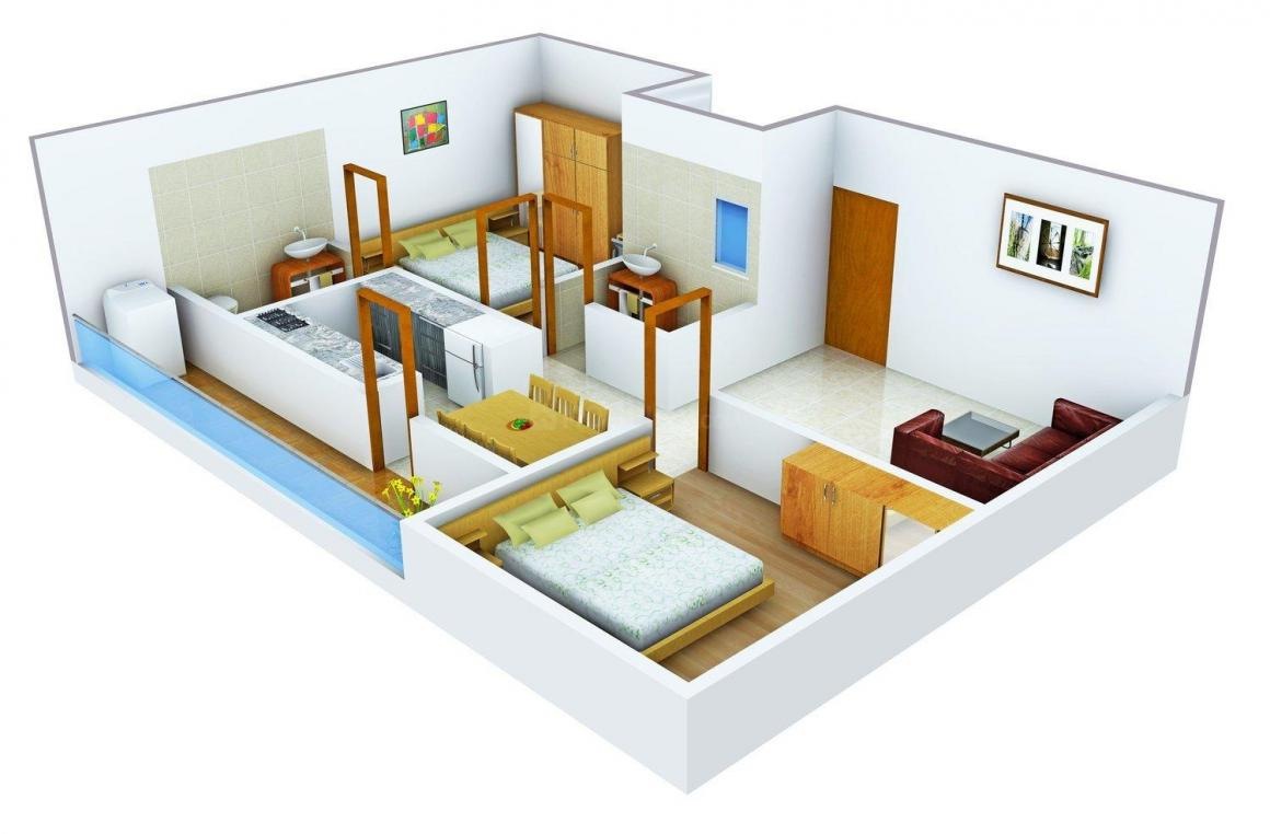 SV Alphyne Floor Plan: 2 BHK Unit with Built up area of 1000 sq.ft 1