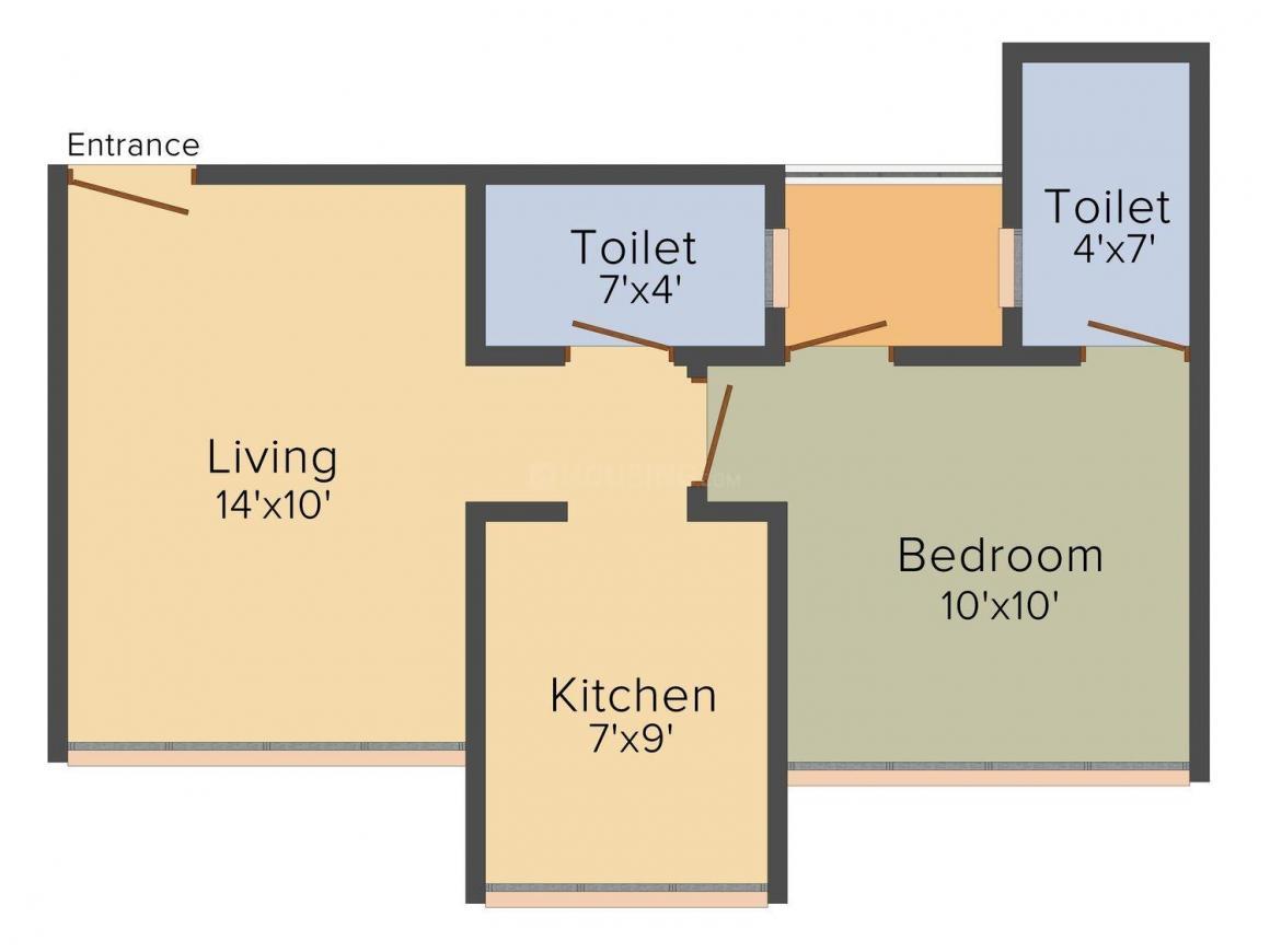 Floor Plan Image of 815.0 - 1720.0 Sq.ft 1 BHK Apartment for buy in HIL Antaliya