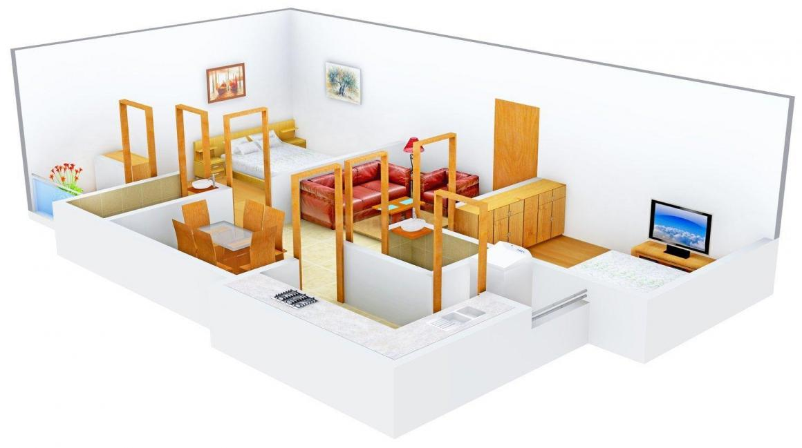 Floor Plan Image of 1082.0 - 1478.0 Sq.ft 2 BHK Apartment for buy in Super Good Jeeva Apartments
