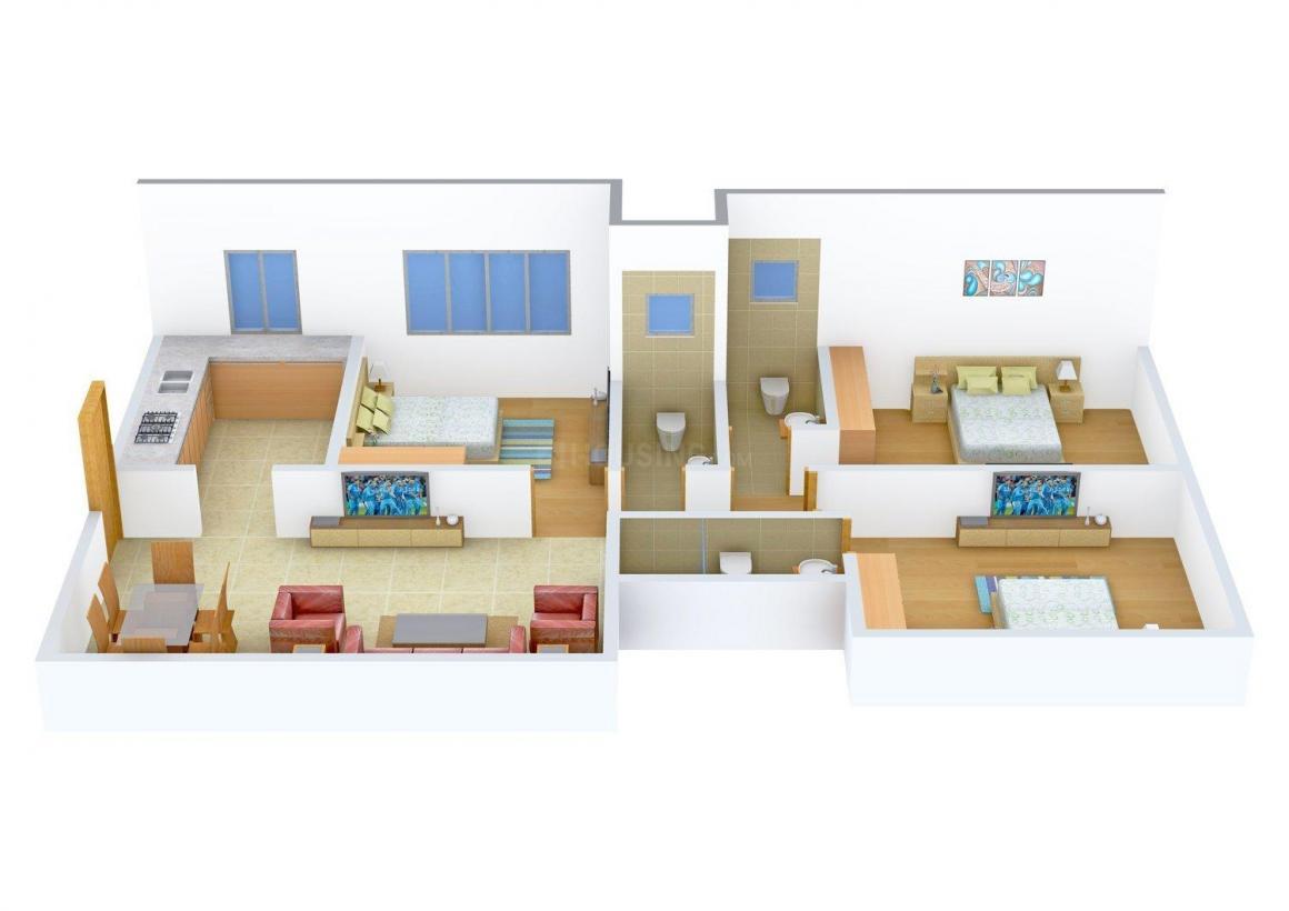 Floor Plan Image of 975.0 - 1085.0 Sq.ft 3 BHK Apartment for buy in Samyakth Sahej