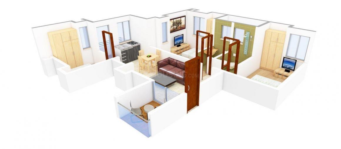 Shree Ram Rajani Gandha Floor Plan: 3 BHK Unit with Built up area of 1338 sq.ft 1