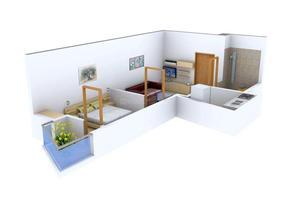 Floor Plan Image of 0 - 450 Sq.ft 1 BHK Independent Floor for buy in Apex Residency 4