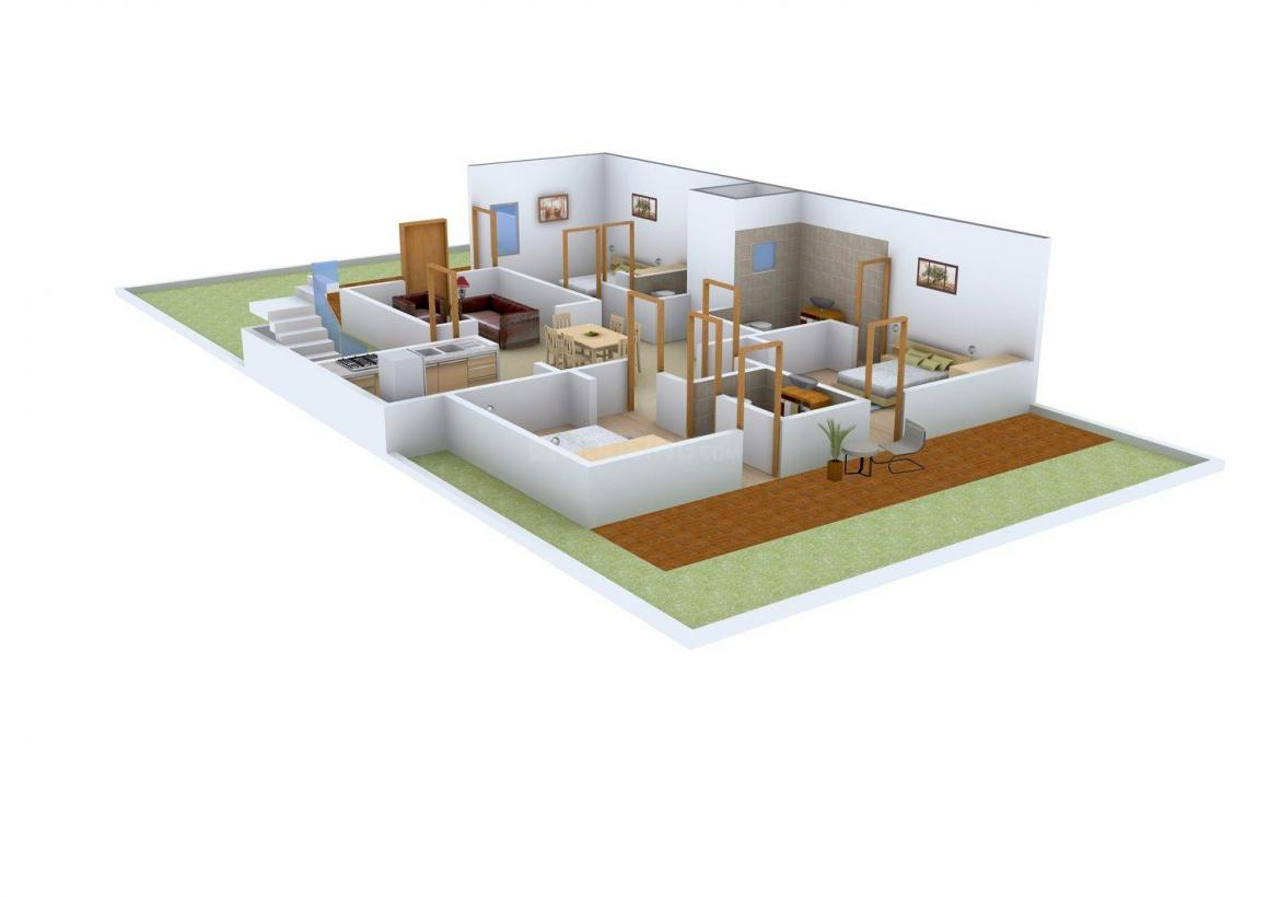 Lord Homes - 1 Floor Plan: 3 BHK Unit with Built up area of 1290 sq.ft 1