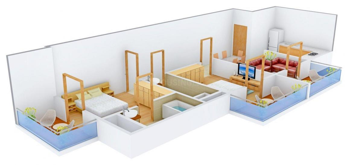 Floor Plan Image of 1073.0 - 1461.0 Sq.ft 2 BHK Apartment for buy in Asian Bay View