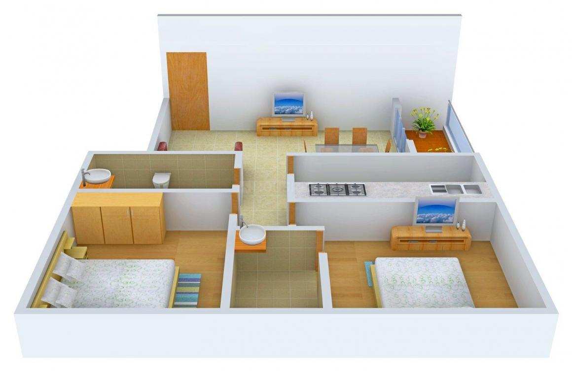 Floor Plan Image of 998 - 1375 Sq.ft 2 BHK Apartment for buy in Panchmukhi Nirman Richmond Royal