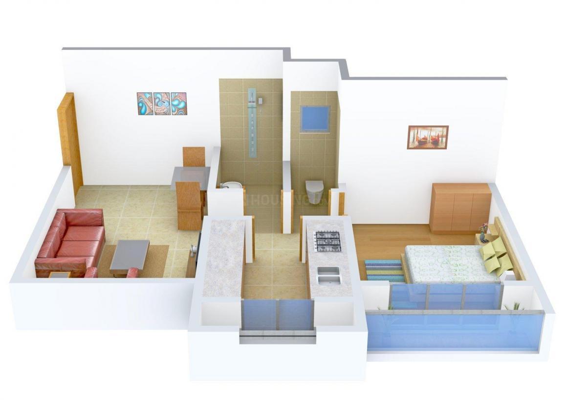 Floor Plan Image of 580 - 2200 Sq.ft 1 BHK Apartment for buy in Vardhaman Shrusti