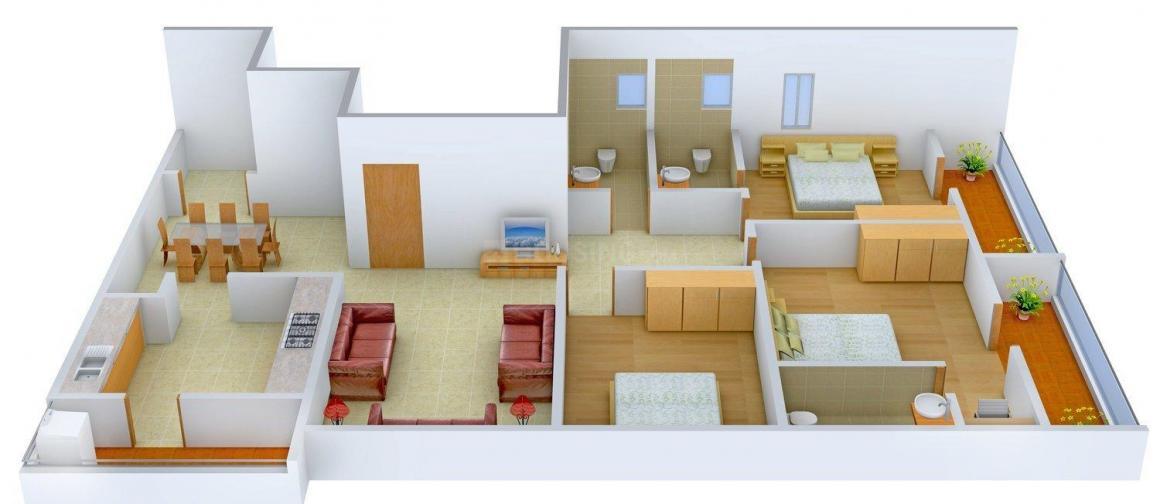 Floor Plan Image of 1861 - 3436 Sq.ft 3 BHK Apartment for buy in Apranje Elan