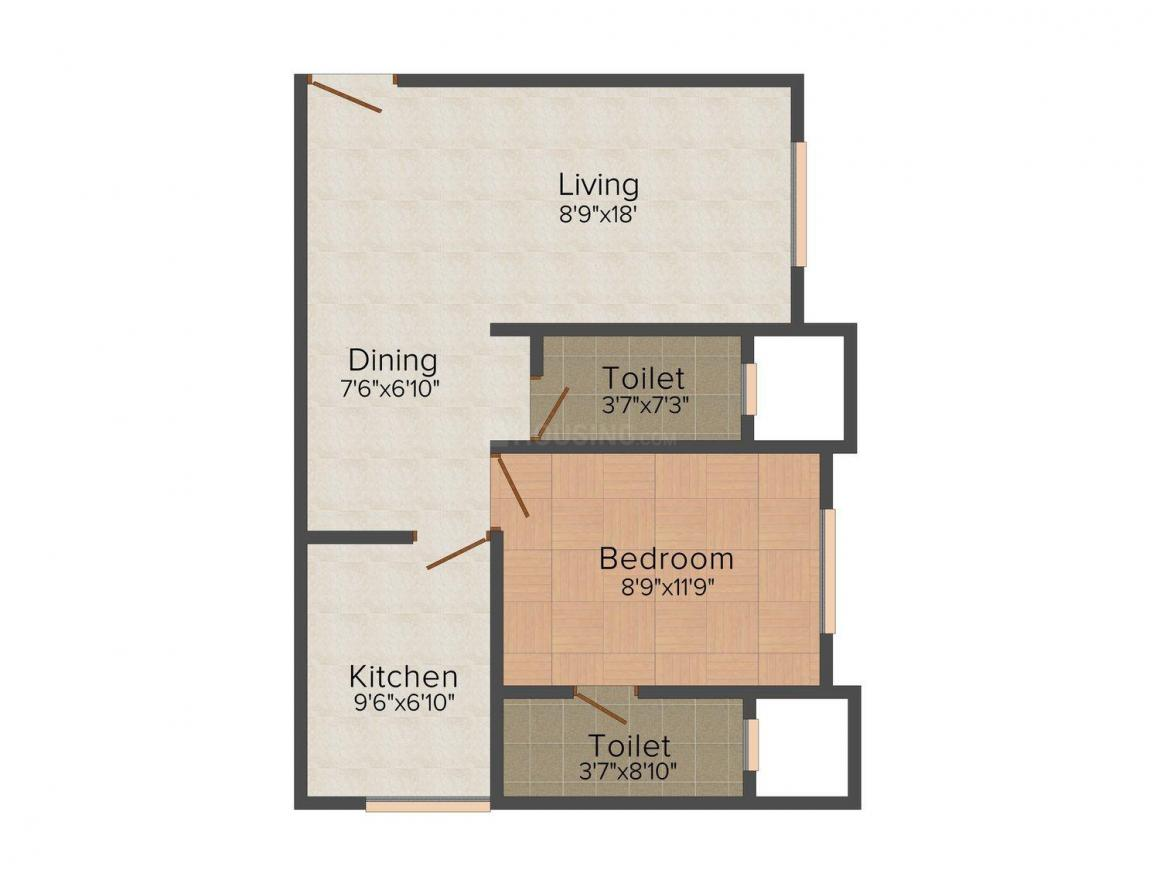 Floor Plan Image of 458 - 1008 Sq.ft 1 BHK Apartment for buy in LMP Laxmi Vilas