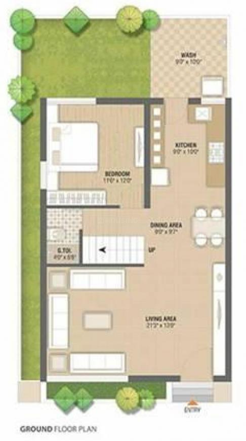 Shreeji Villa Floor Plan: 4 BHK Unit with Built up area of 3474 sq.ft 3