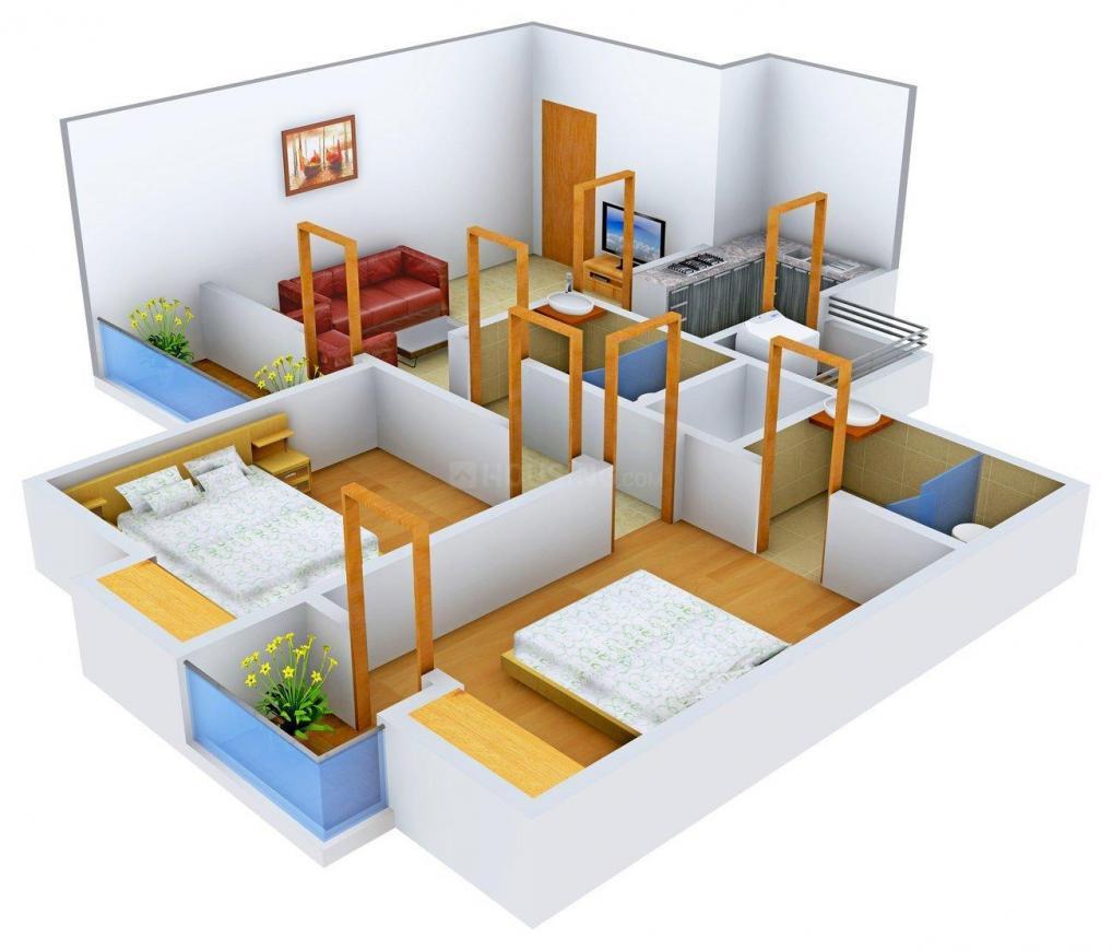 Floor Plan Image of 988 - 2587 Sq.ft 2 BHK Apartment for buy in 3C Lotus Panache