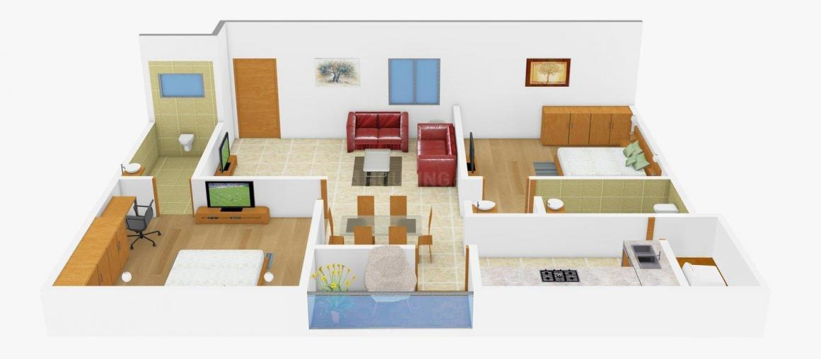 Floor Plan Image of 1040.0 - 1315.0 Sq.ft 2 BHK Apartment for buy in Murari Classic