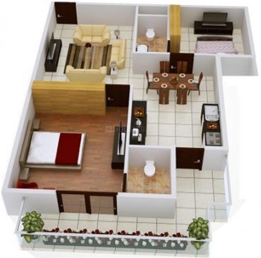 Floor Plan Image of 1102.5 - 1532 Sq.ft 2 BHK Apartment for buy in Nest Haiku Apartment