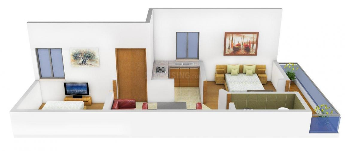 Floor Plan Image of 0 - 450 Sq.ft 2 BHK Independent Floor for buy in 8 Majestic Homes - XI