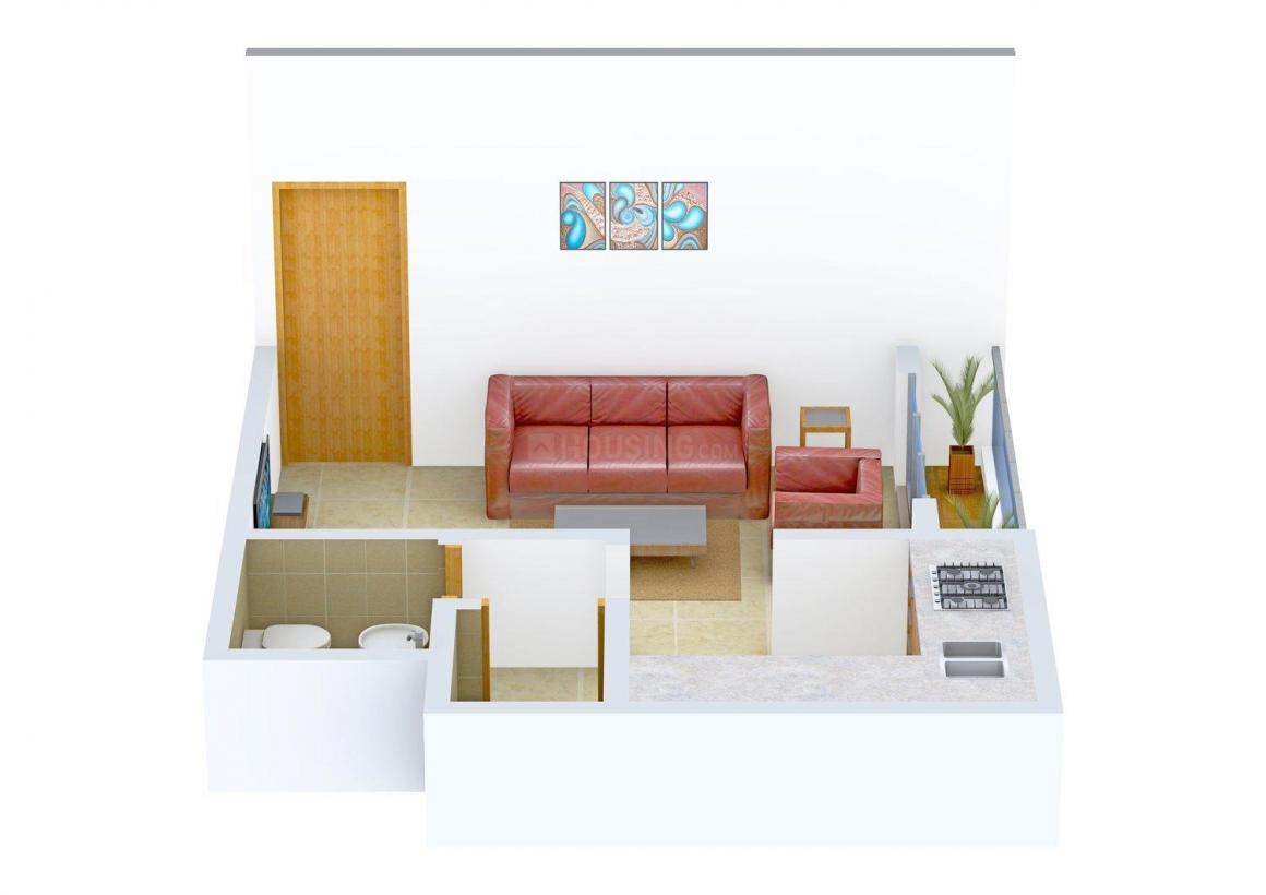 Floor Plan Image of 360.0 - 520.0 Sq.ft 1 RK Apartment for buy in Dhavale Aaros Exotica