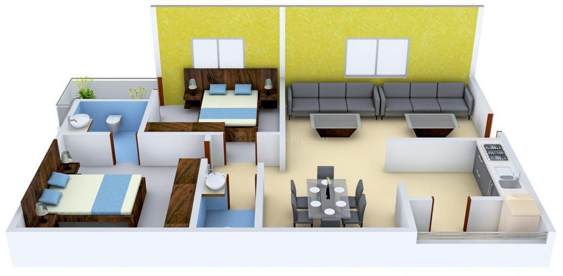 Floor Plan Image of 1268.0 - 2710.0 Sq.ft 2 BHK Apartment for buy in Hallmark Empyrean