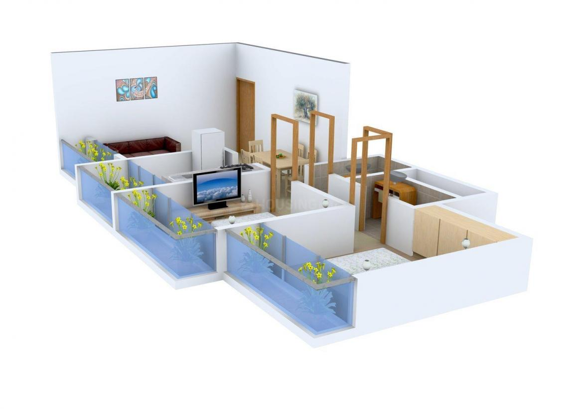 Floor Plan Image of 1050.0 - 1465.0 Sq.ft 2 BHK Apartment for buy in Paras Dev Paradise