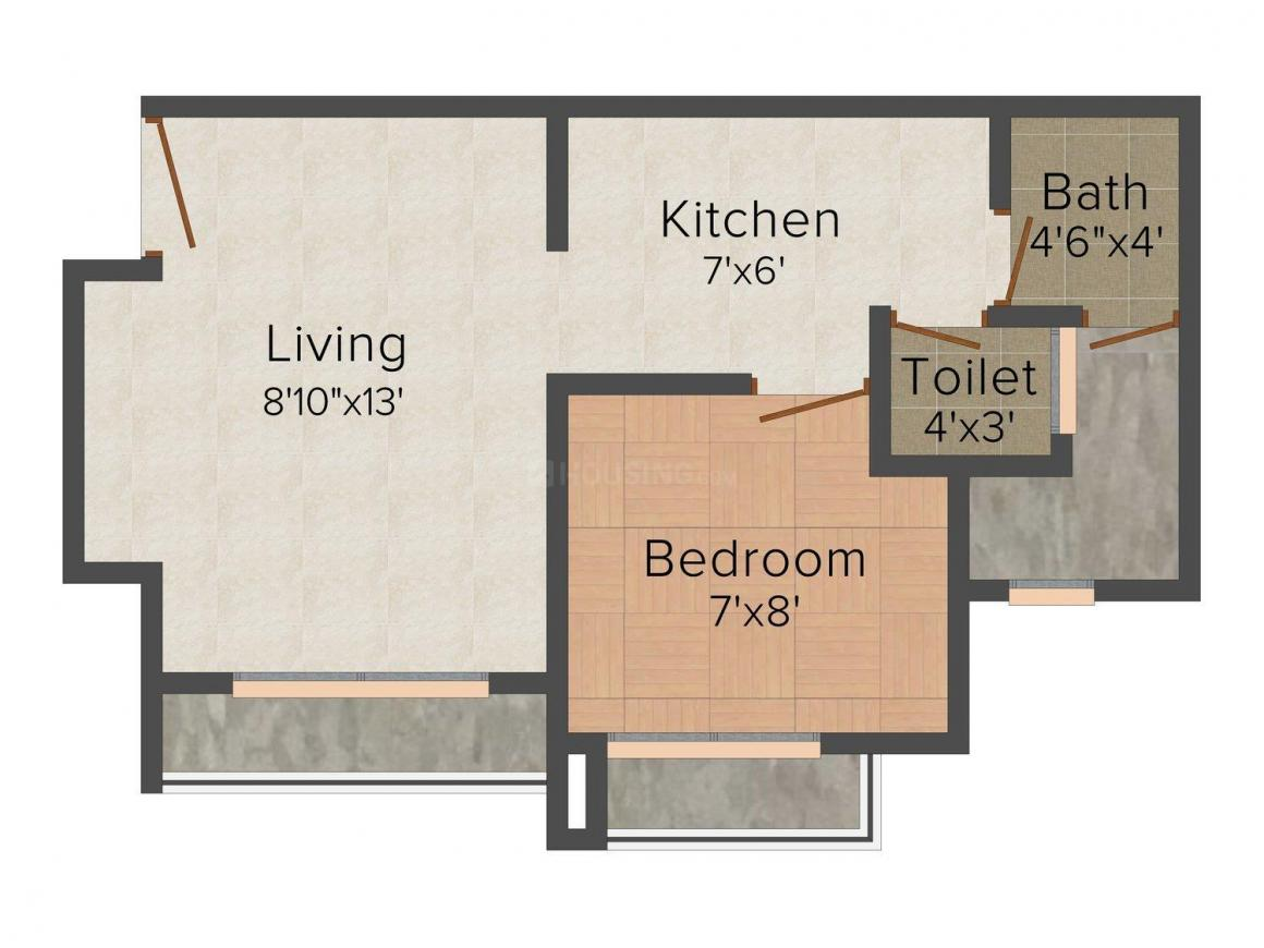 Floor Plan Image of 520 - 1140 Sq.ft 1 BHK Apartment for buy in Bhoomi Acres