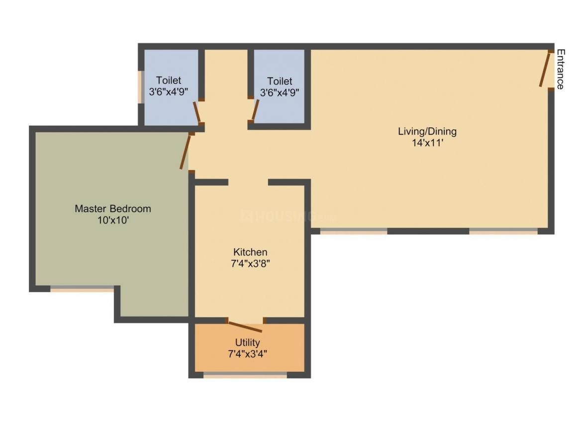 Floor Plan Image of 0 - 787.81 Sq.ft 3 BHK Apartment for buy in Lodha Palava River View E And F