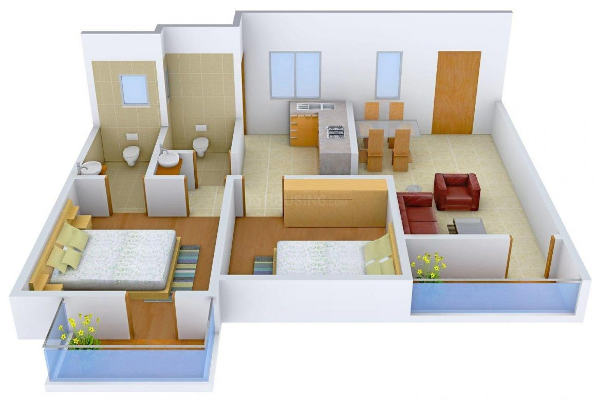 Floor Plan Image of 961 - 1495 Sq.ft 2 BHK Apartment for buy in Raja Sannidhi Phase -II