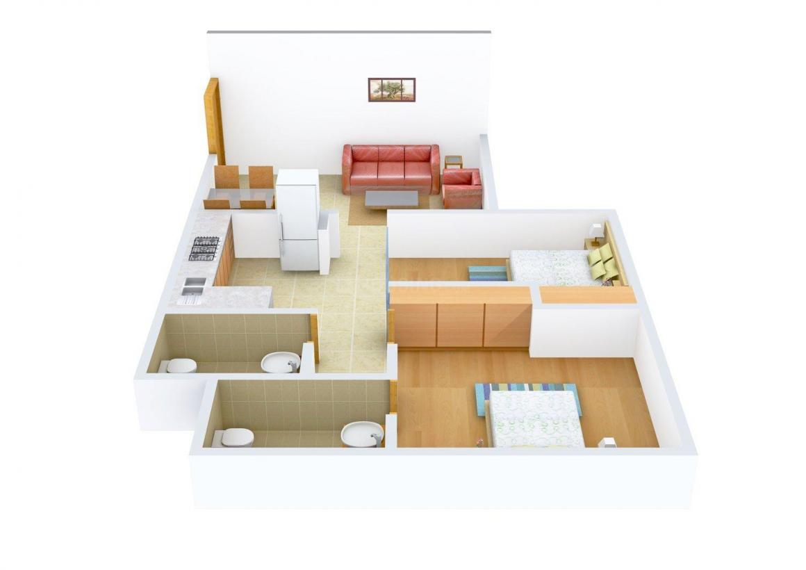 Floor Plan Image of 521.0 - 1076.0 Sq.ft 2 BHK Apartment for buy in Sumit Sumit Artista