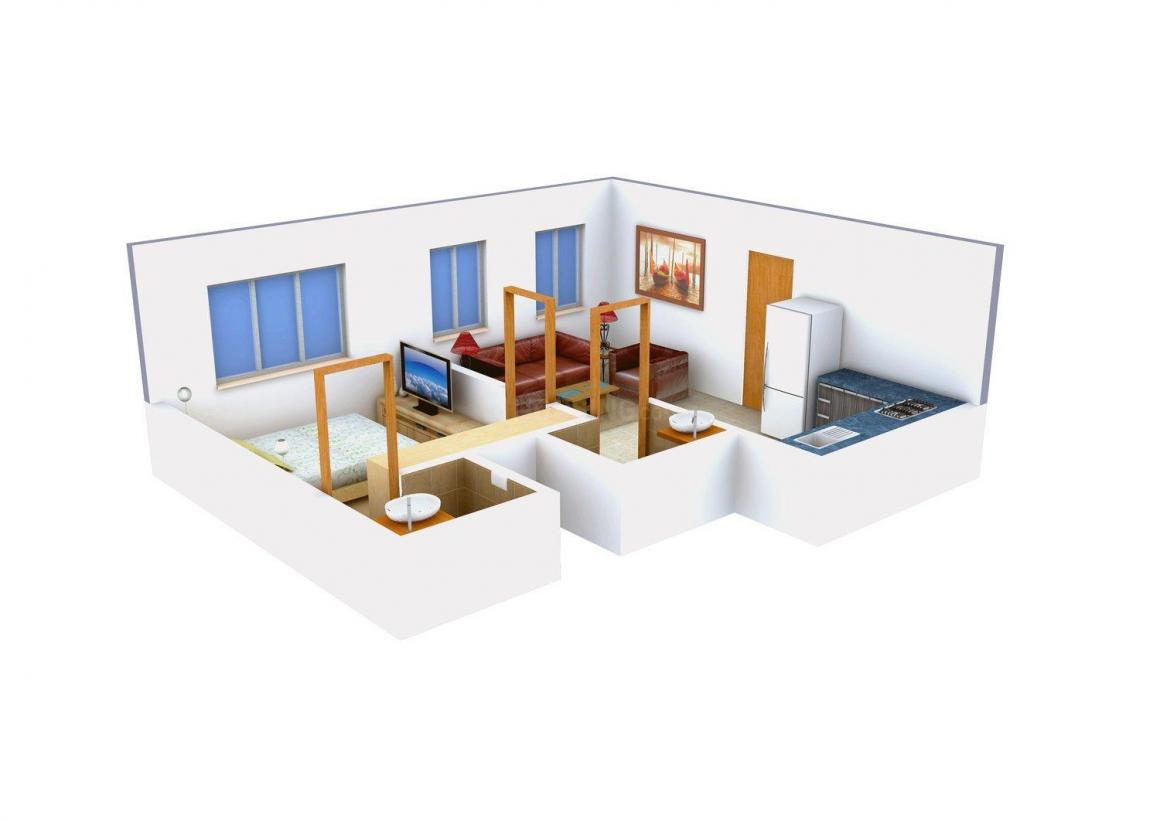 Floor Plan Image of 710 - 1741 Sq.ft 1 BHK Apartment for buy in Landmark The Bombay One