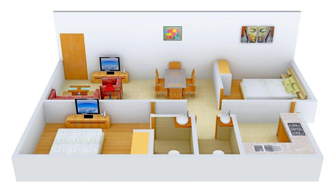 Floor Plan Image of 0 - 832.0 Sq.ft 2 BHK Apartment for buy in Varsha Homes