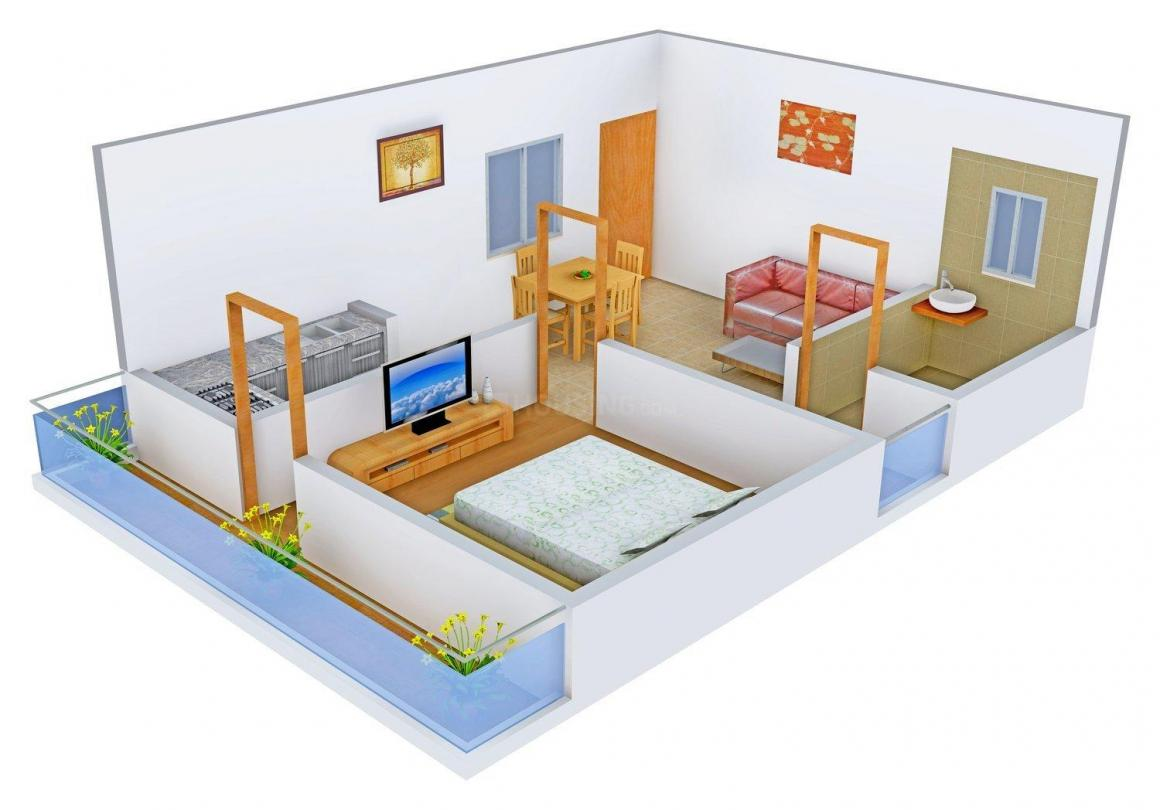 Floor Plan Image of 470 - 931 Sq.ft 1 BHK Apartment for buy in AKH Royal Apartment