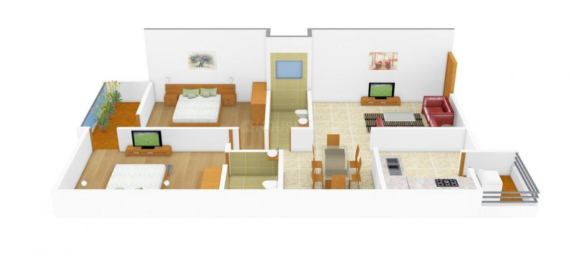 Floor Plan Image of 0 - 1090.0 Sq.ft 2 BHK Apartment for buy in Varun Victoria Empire Park