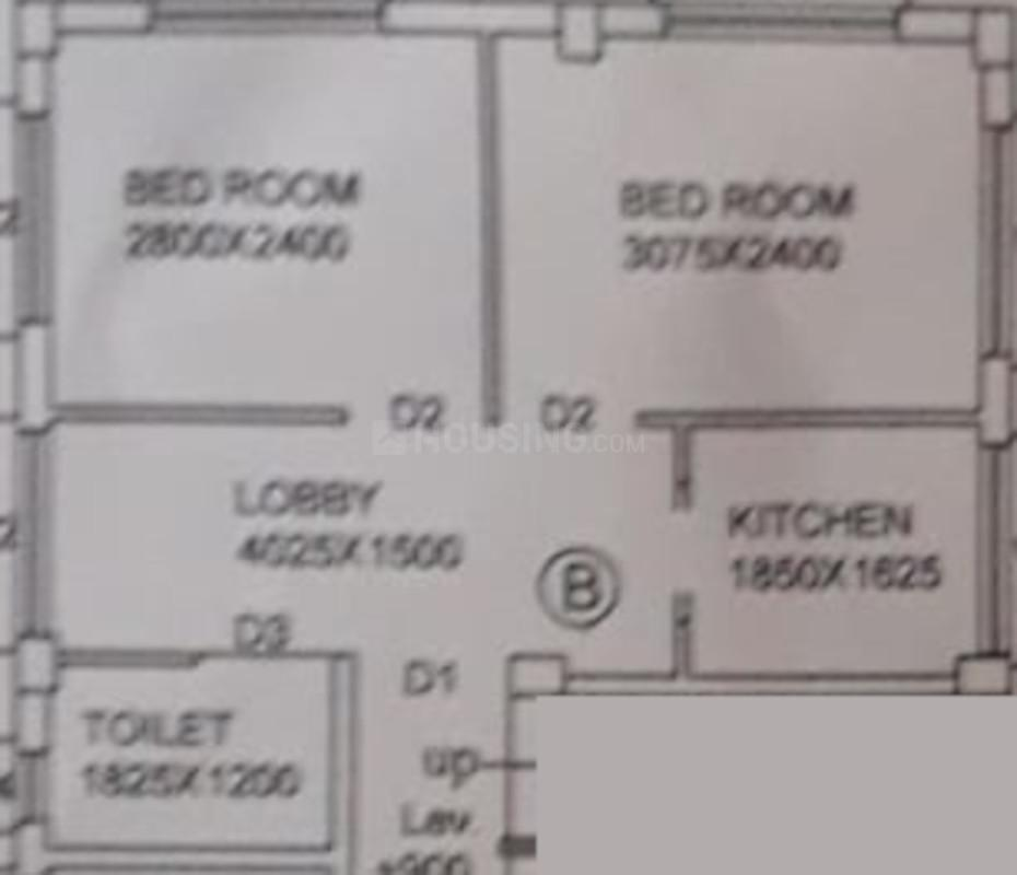 Mehek Apartment Floor Plan: 2 BHK Unit with Built up area of 660 sq.ft 1