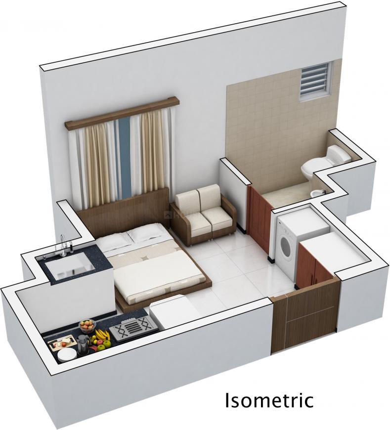 Floor Plan Image of 223 - 569 Sq.ft Studio Studio Apartment for buy in Vijay Raja Exurb
