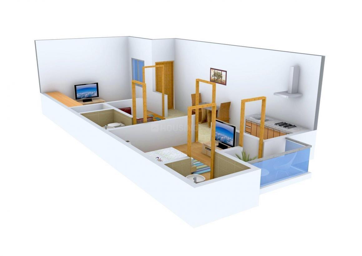 Floor Plan Image of 637.0 - 650.0 Sq.ft 2 BHK Independent Floor for buy in Kodan Homes - II