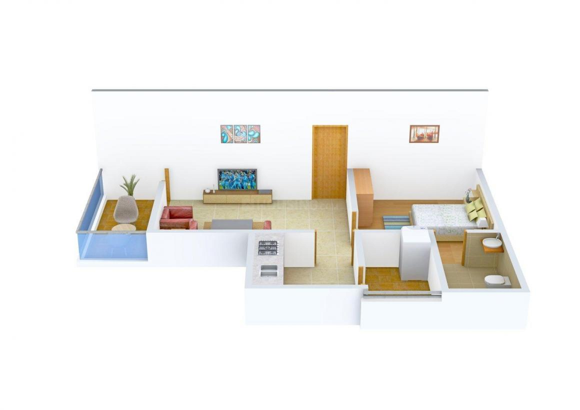 Floor Plan Image of 0 - 758 Sq.ft 1 BHK Apartment for buy in Paroha Vision