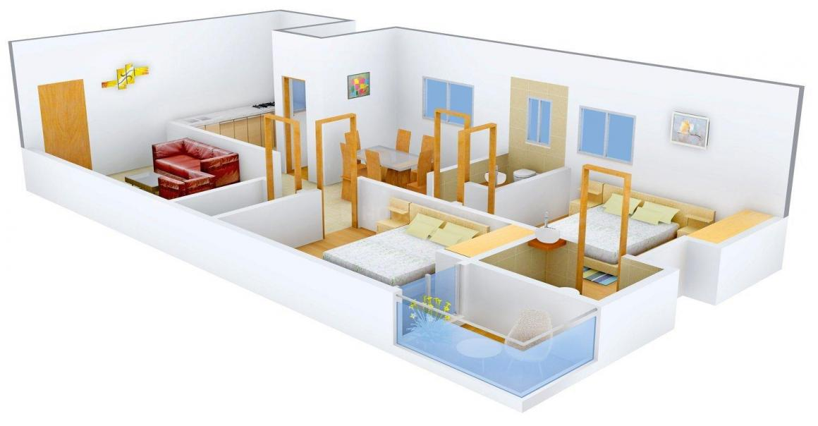 RV Kumuda Floor Plan: 2 BHK Unit with Built up area of 1115 sq.ft 1