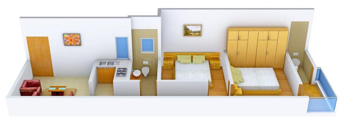 Floor Plan Image of 0 - 612.0 Sq.ft 2 BHK Apartment for buy in Rawat - 1