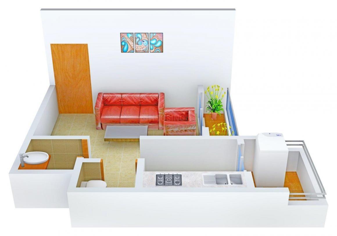 Floor Plan Image of 425.0 - 650.0 Sq.ft 1 RK Apartment for buy in Devkrupa Aavishkaar Vista