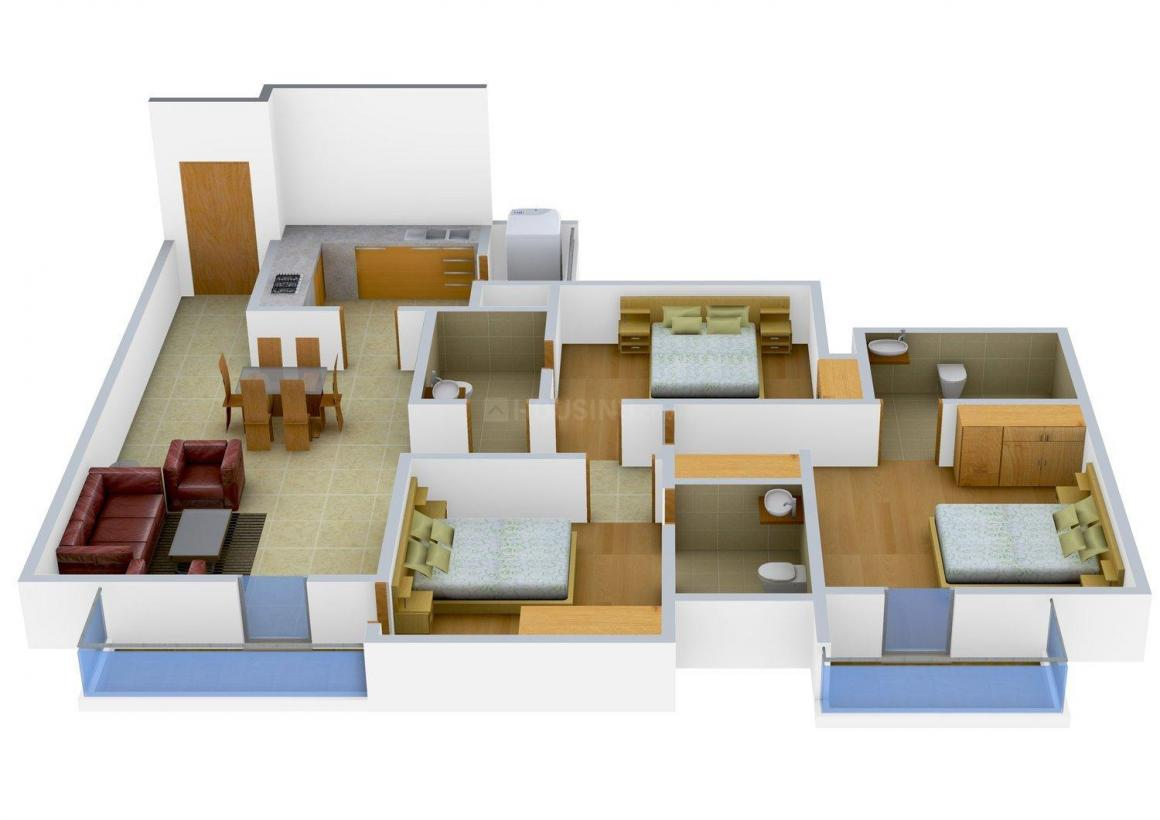 Floor Plan Image of 0 - 1656.0 Sq.ft 3 BHK Independent Floor for buy in Mittal Floors