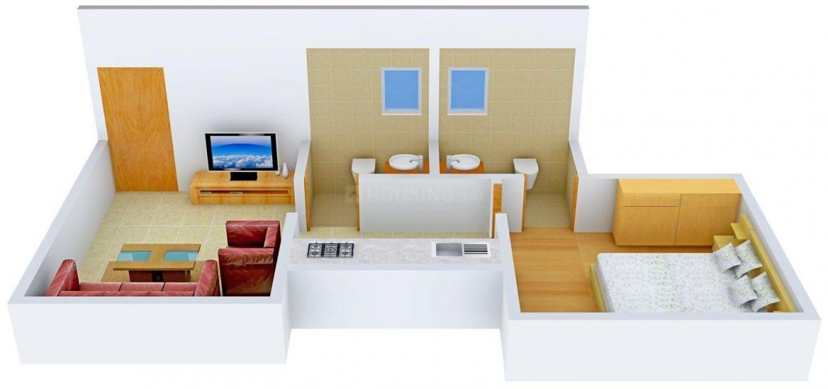 Floor Plan Image of 610 - 800 Sq.ft 1 BHK Apartment for buy in Nirlon Shivam