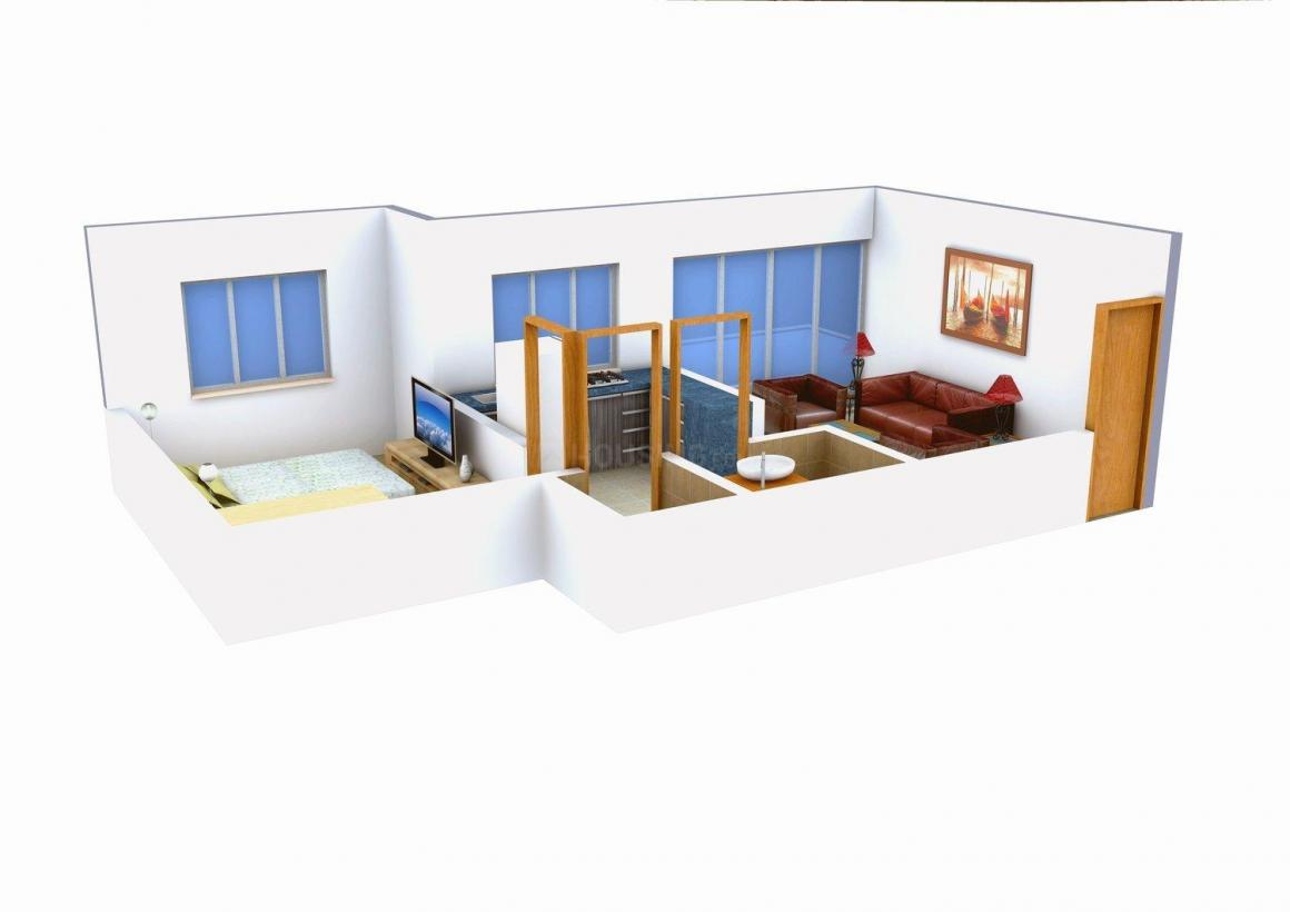 Floor Plan Image of 530 - 580 Sq.ft 1 BHK Apartment for buy in Vidhata Om Chambers