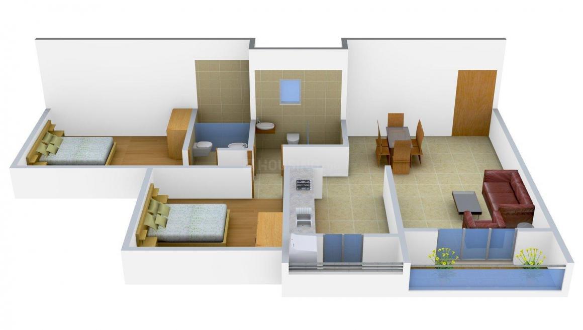 Floor Plan Image of 1150 - 4970 Sq.ft 2 BHK Apartment for buy in Goldbricks Anandam World City
