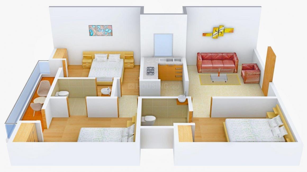 Floor Plan Image of 0 - 1080.0 Sq.ft 3 BHK Independent Floor for buy in Piyush Floors B 287 Chhattarpur