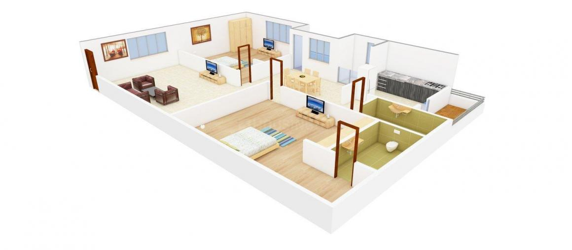 Floor Plan Image of 1043.0 - 1734.0 Sq.ft 2 BHK Apartment for buy in RR Vedavyasa Nilayam