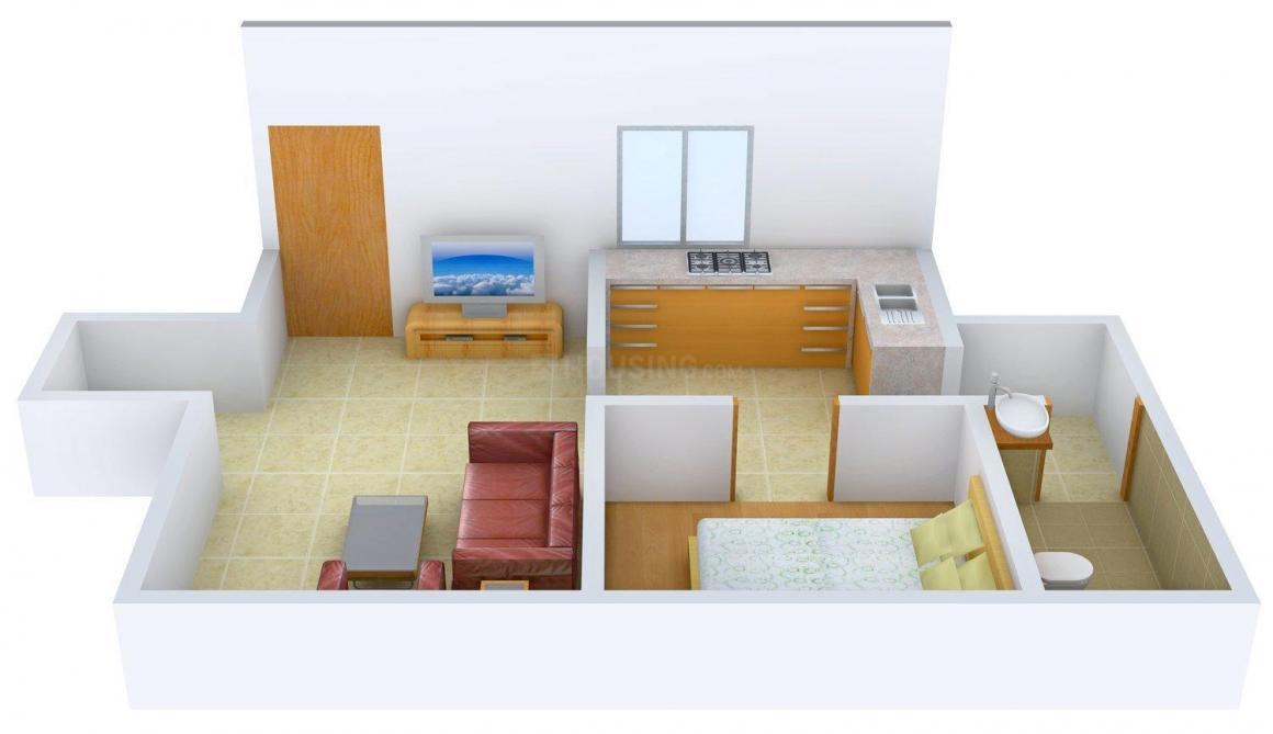 Floor Plan Image of 400 - 1400 Sq.ft 1 BHK Apartment for buy in Sudama Vijay