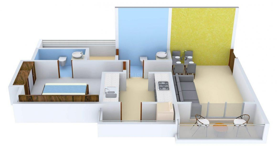 Rutu City Floor Plan: 1 BHK Unit with Built up area of 429 sq.ft 1