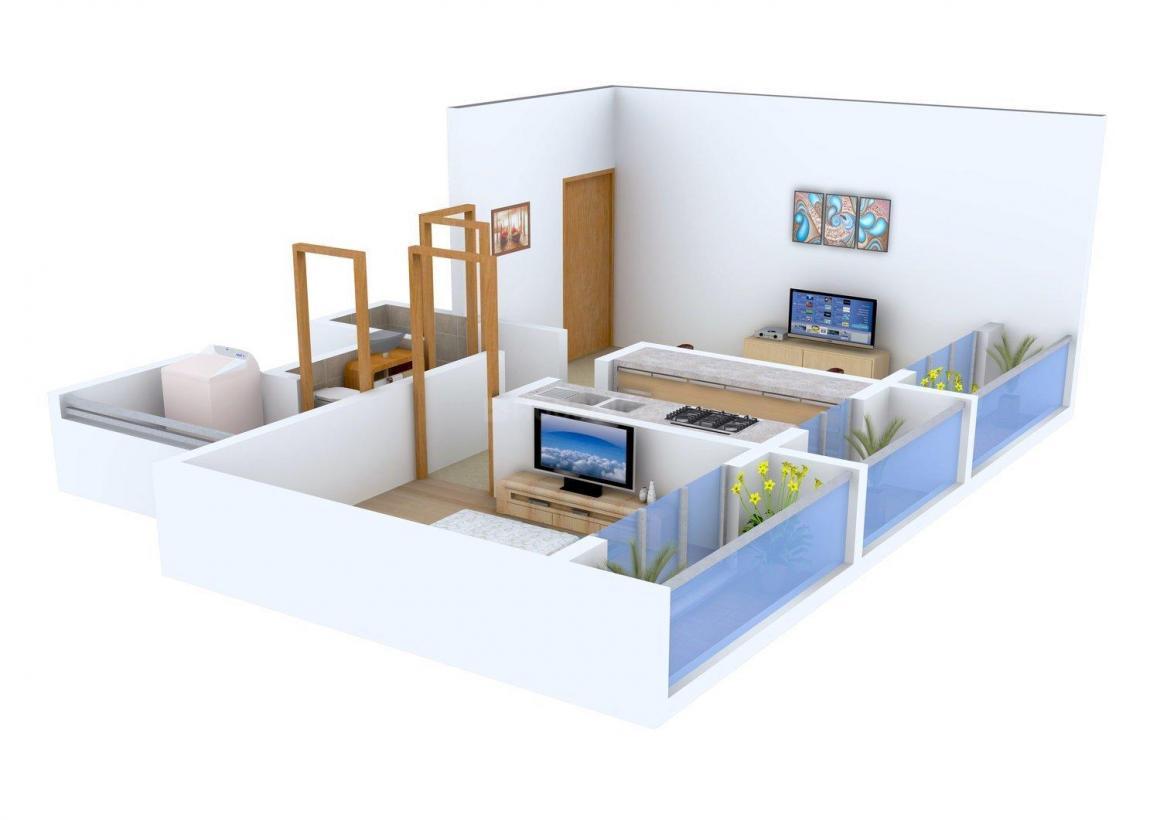 Floor Plan Image of 0 - 728 Sq.ft 1 BHK Apartment for buy in Mahi Kripa