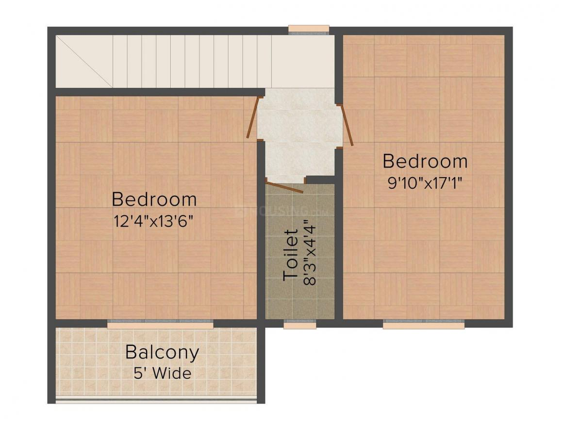 Floor Plan Image of 1148 - 2420 Sq.ft 2 BHK Villa for buy in Nanu Sapana Orchid
