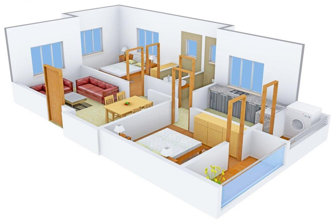 Floor Plan Image of 865.0 - 908.0 Sq.ft 2 BHK Apartment for buy in Venkatashish Padmakamal Residency